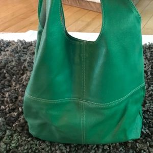 Alberta diCanio leather handbag in vibrant green